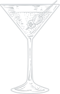 a line drawing of a martini glass