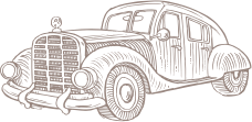 line drawing of a car